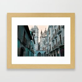 CATEDRAL LEÓN Framed Art Print