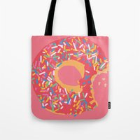 doughnut Tote Bags featuring Doughnut by Fischerboy