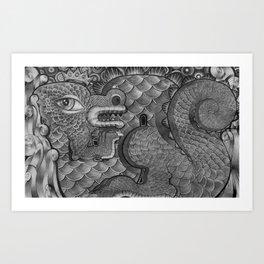 King Dragon Art Print