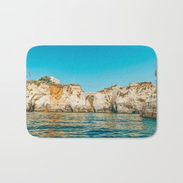 Rocks, Cliffs And Ocean Landscape At Lagos Bay Coast, Wall Art Print, Landscape Art, Poster Decor Bath Mat