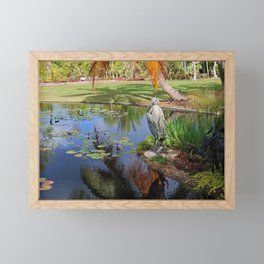 At the Pond Framed Mini Art Print