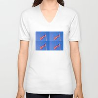 freedom V-neck T-shirts featuring FREEDOM by Bruce Stanfield