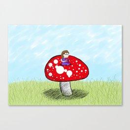 Mushroom Girl Canvas Print
