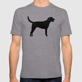 Black Labrador Retriever Silhouette #society6 #decor #buyart #artprint T-shirt