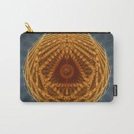 Mandala of Radiant Abundance (grey-gold) Carry-All Pouch