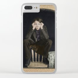 Young American Man c.1850 - Colourised Clear iPhone Case