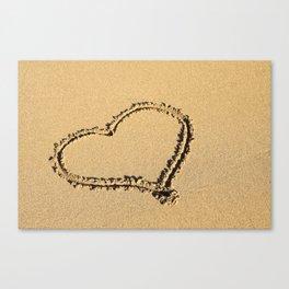 Heart Shape Craft at the Beach Canvas Print