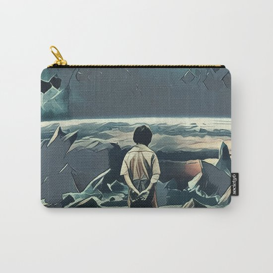 Lonely boy in cosmos Carry-All Pouch