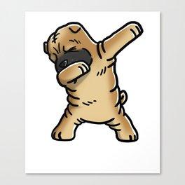 Funny Dabbing Shar Pei Dog Dab Dance Canvas Print