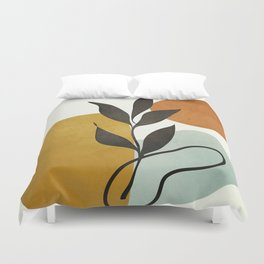 Soft Abstract Small Leaf Duvet Cover