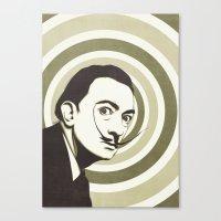 salvador dali Canvas Prints featuring Salvador Dali by Kristjan Lyngmo