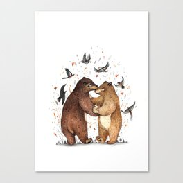 Bear Dance Canvas Print