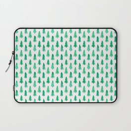 Watercolor Winter Evergreens - Christmas Trees Laptop Sleeve