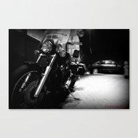 motorcycle Canvas Prints featuring Motorcycle by Reggie Thomas II Photos