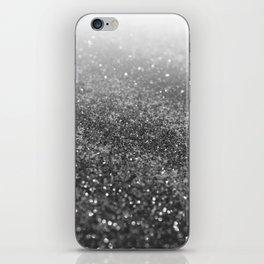 Silver Gray Black Glitter #2 (Faux Glitter - Photography) #shiny #decor #art #society6 iPhone Skin