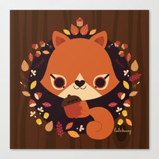 Wintertime Squirrel Canvas Print