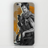 daryl iPhone & iPod Skins featuring Daryl Dixon by Yan Ramirez