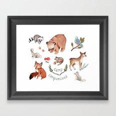 Camp Companions Framed Art Print