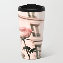 Paris in Blush Pink II Metal Travel Mug