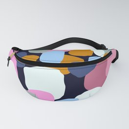 Mid-Century Modern Abstract Pattern In Blue, Pink, & Mint Fanny Pack