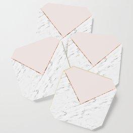 Peony blush geometric marble Coaster