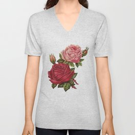 Roses Are Red And Pink... Unisex V-Neck