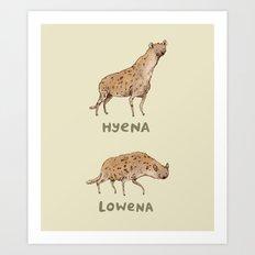 Hyena Lowena Art Print