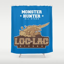 Monster Hunter All Stars - Loc-Lac Riders Shower Curtain