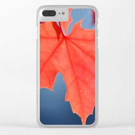 VIBRANT FALL LEAVES Clear iPhone Case