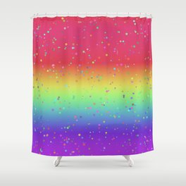 Rainbow Fairy Kei Pattern Shower Curtain