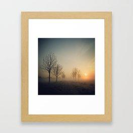 Scattered trees Framed Art Print