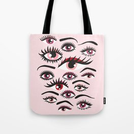 crazy lashes shiny eyes Tote Bag
