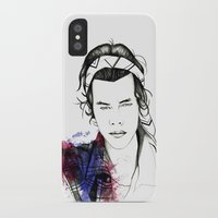 harry styles iPhone & iPod Cases featuring Harry Styles by Mariam Tronchoni