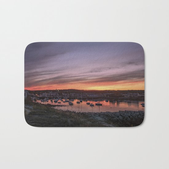 Last Rockport Sunset of Summer Bath Mat