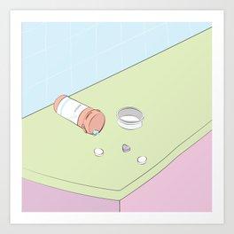Heart Ache Pills Art Print