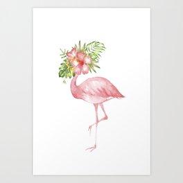 Flamingo Dreams Art Print