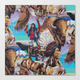 American Native Pattern No. 199 Canvas Print