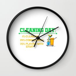 Cleaning Day 1% Cleaning 29% Complaining 70% Playing With Stuff Wall Clock