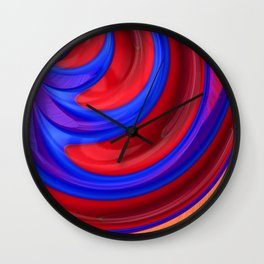 Beautiful Abstract Art by Raphael Terra Wall Clock