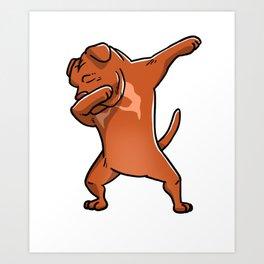 Dabbing Dogue De Bordeaux Dog Dab Dance Art Print