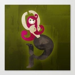 Mermaid (typo poinup) Canvas Print