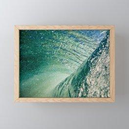 Under Ocean Wave Framed Mini Art Print