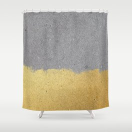 Concrete and gold Shower Curtain