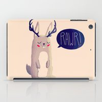 nan lawson iPad Cases featuring Fearsome Critter by Nan Lawson
