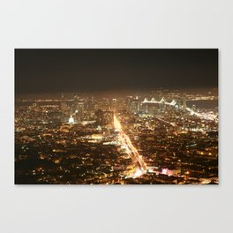 Beautiful San Francisco Skyline  Canvas Print