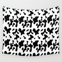 cow Wall Tapestries featuring Cow by Cs025