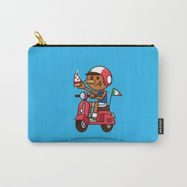 Italy! Pinocchio Eat Pizza and Ride Vespa Carry-All Pouch