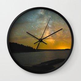 Milky Way Galaxy in Manitoba Wall Clock