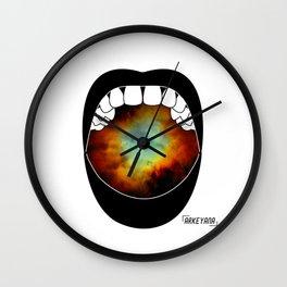 Moon Scream Wall Clock