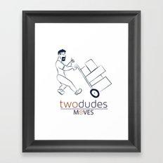 Two Dudes Moves Framed Art Print